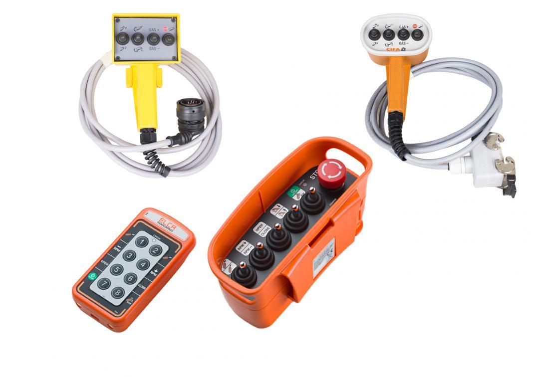 Truck mixer remote controls