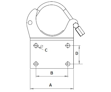 pipe support clamp support base plate