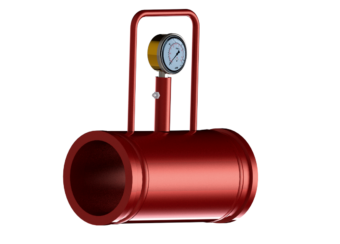 Pipe with pressure gauge